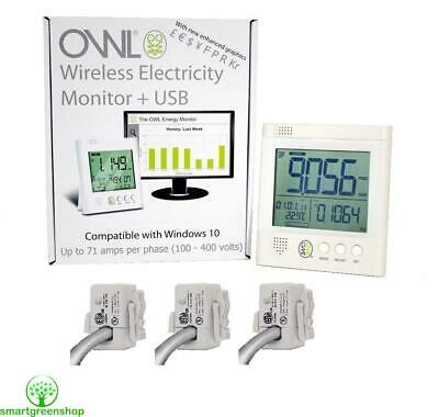 OWL +USB CM160 Three Phase Electricity Monitor (Max 71 AMP Per Phase, 100-250V)