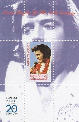 ELVIS PRESLEY GREAT PEOPLE OF 20th CENTURY SOMALILAND MNH STAMP SHEETLET