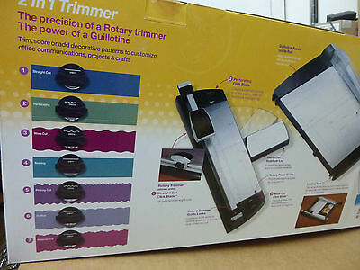 Purple Cows-2 in 1 Combo Paper Trimmer Guillotine For Office,School,Crafts -BNIB