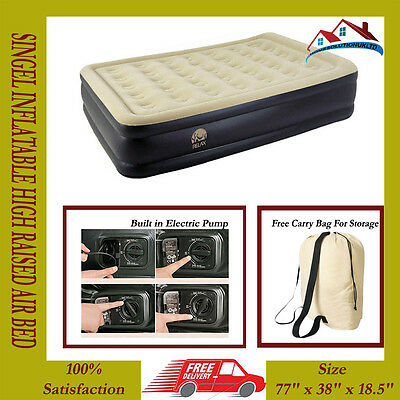 New Relax Inflatable High Raised Air Bed Mattress With Built In Electric Pump