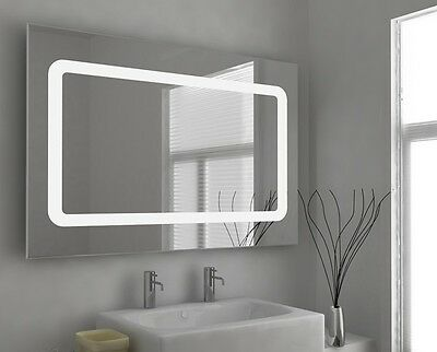 LED Illuminated Bathroom Mirror with Sensor, Shaver and Demister - Yianni - c45