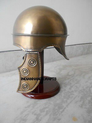 Beautiful Hbo Rome Helmet In Brass Antique Finish Handcrafted Designed Helmet