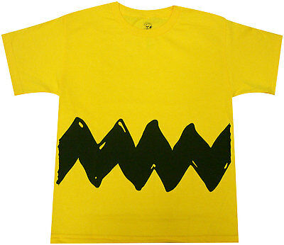 Peanuts Charlie Brown Costume Youth Yellow T-shirt -Official Cartoon comic strip