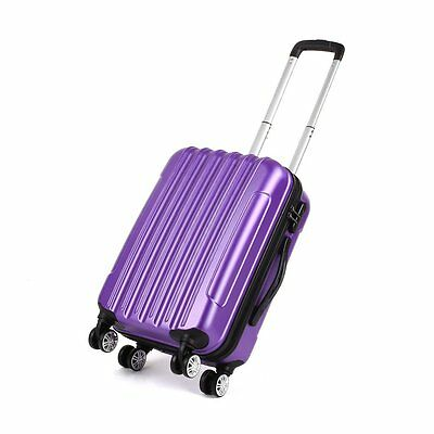 """Violet 20"""" Valises Coque Rigide Spinner 4 Roues ABS Bagage Main Cabine Voyage"""