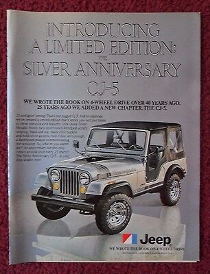 1979 Print Ad JEEP Renegade CJ-5 Limited Edition Silver Anniversary Car