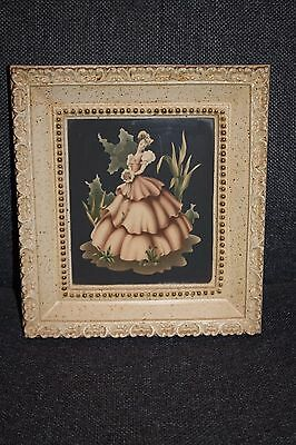 Old 1922 Silhouette Chalkware Framed Picture