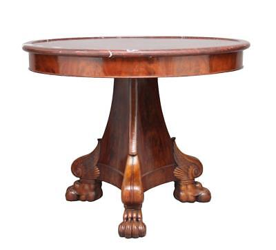 19Th Century French Mahogany Gueridon Center Table