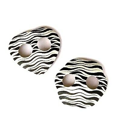 Sarong Buckles Ties or Clips | Hand Painted | Zebra Animal Print | Black White