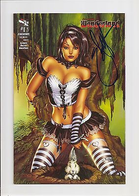 Grimm Fairy Tales Presents: Wonderland #1C Nm 9.4 *signed By Ebas* 2012