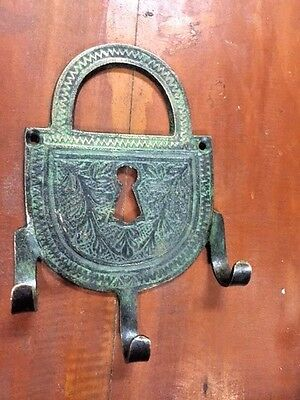 Bronze Wall Towel Key Hook Vintage Patina