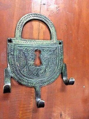 Bronze Wall Towel Key Hook Vintage Patina