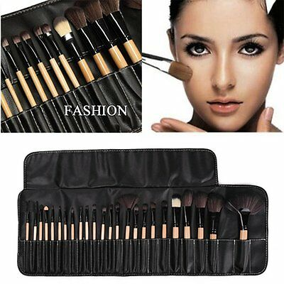 24 PZ Professionale Make Up Brush Set Pennelli Fondotinta Trucco Pennelli KY