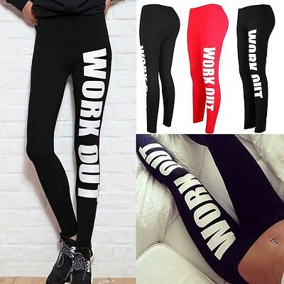 US Women's Yoga Pants Comfortable Sports Exercises Running Jegging Fitness S030