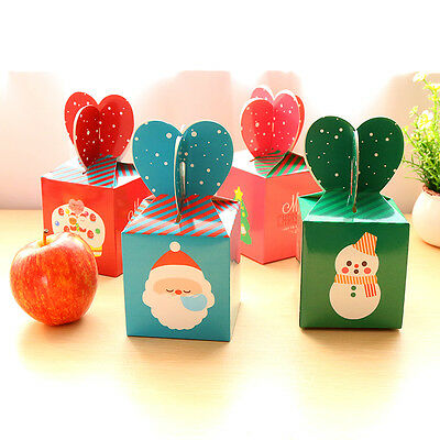 6PCS Xmas Christmas Gift Boxes Christmas Eve Apple Box Candy Boxes Party Boxes