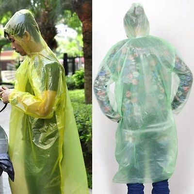 1/2/10Pcs Disposable Emergency Rain coat Raincoat Poncho for Camping Hiking RMAU