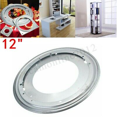 3 Sizes Heavy Duty Metal Bearing Rotating Swivel Turntable Plate For Desk Table