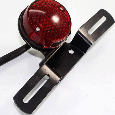 Universal Red LED 12V 20W Motorcycle Rear Tail Light Round Brake Stop Lamp New