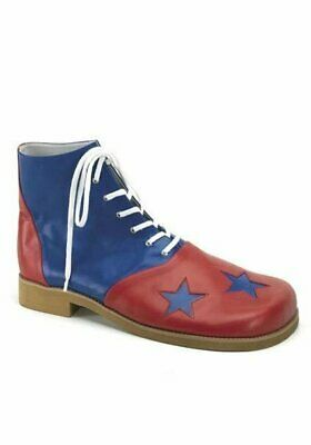 Funtasma CLOWN-02 Two-Tone Clown Shoes. Men'S Size Shoe With Stars