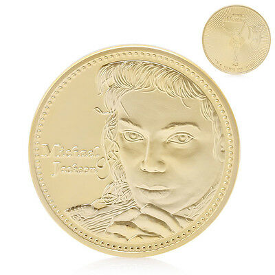 The King of Pop Star Thriller Moonwalk Gold Plated Commemorative Coin Collection
