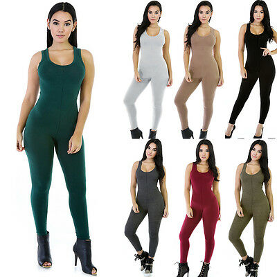 Women Clubwear Playsuit Sleeveless Bodycon Party Jumpsuit&Romper Pants Trousers