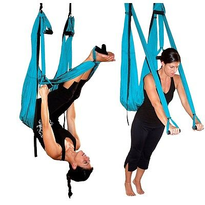 Fuloon Flying Hammock Inversion Swing Adjustable Aerial Pilates Yoga Fitness