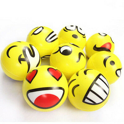 Smiley Face Anti Stress Reliever Ball ADHD Autism Mood Toy Squeeze Relief FT