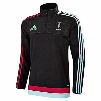 Harlequins adidas 2015/16 Rugby Fleece 1/4 Zip Jacket Top BNIB (ALL SIZES)