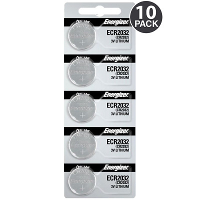 Energizer CR2032 ECR2032 3V Lithium Coin Battery (10 Coin Cells) + Tracking