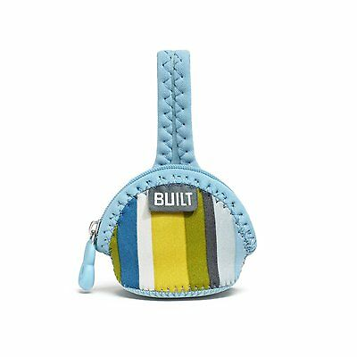 Built Paci-Finder Single Pacifier Holder, Baby Blue Stripe Tested for FDA safety