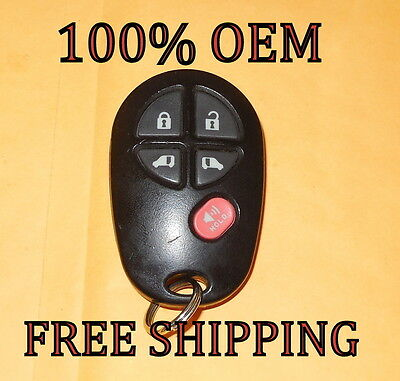 Genuine OEM Toyota Sienna 5-BUTTON Keyless Entry Remote Fob GQ43VT20T
