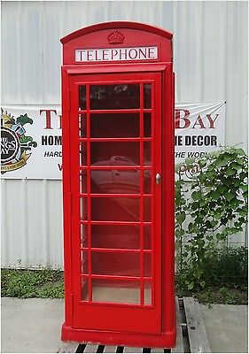 Red British London Cast ALUMINUM Telephone PHONE BOOTH  English