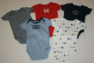New Carter/'s 5 Pack Bodysuits NWT NB 3m 12m Boys Tops Space Galaxy
