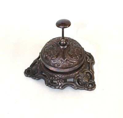 Bronze Shop Bell Front Desk Retail Counter Store Solid Brass Under Oil Rubbed