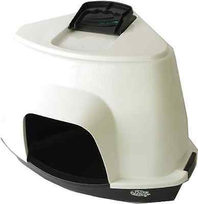 Pet Brands Corner Litter Tray with Hood Plus Filter Black - SAME DAY DISPATCH