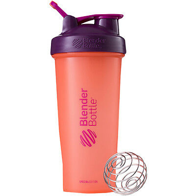 Blender Bottle Special Edition 28 oz. Shaker with Loop Top - Hot Coral