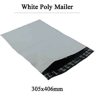 100 Poly Courier Bags Plastic Mailing Satchel Self Sealing Mailers 305mmx406mm