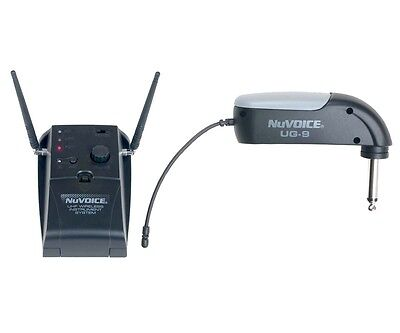 NuVOICE UG-9 UHF Wireless Guitar System Microphone 90° Plug