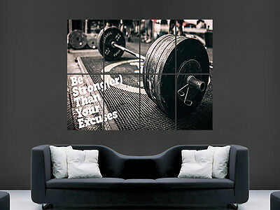 Weightlifting Motivation Poster Print Wall Art Gym Fitness Weights Image Giant