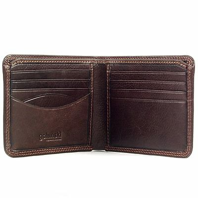 Men's Wallet in Premium Vintage Antique Leather by Golunski : Brown or Tan