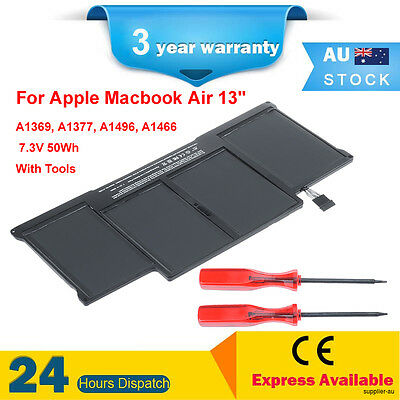 """50Wh Replacement Battery For Apple MacBook Air 13"""" A1466 MD231LL/A A1496 Mid2012"""