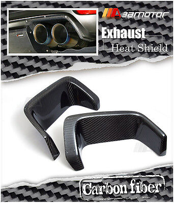 Carbon Fibre Rear Bumper Exhaust Heat Shields for Subaru Impreza WRX STi GRB GVB