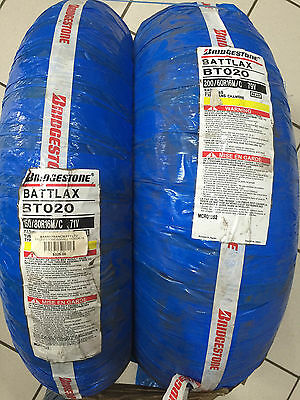 Bridgestone Battlax Bt020 White Wall Pair Front And Rear - New Old Stock