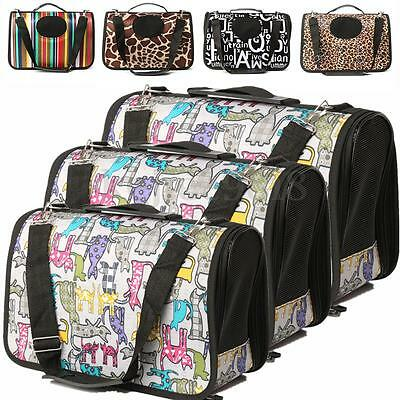 S/M/L Dog Pet Cat Adjustable Double Zipper Carrying Bag Tote Cage Travel Carrier