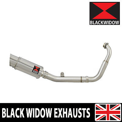 Yamaha MT125 14 -19 Low Exhaust System Round Stainless Steel Silencer 200SS