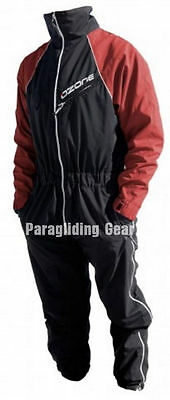 Ozone flying suit red for paraglider and paramotor pilots available sizes S,M,XL