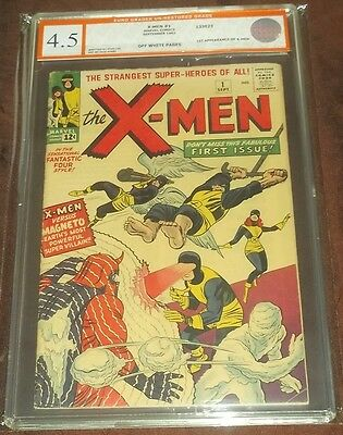 X-Men #1 Egc Graded ( 4.5 ) Off White Pgs 1St Appearance X-Men Euro Grader (Sa)