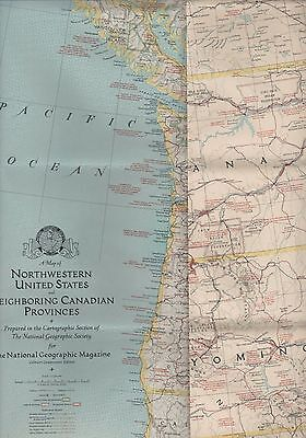 Large NG Map. 1941. Northwestern United States Canadian Provinces   (ZS.46)