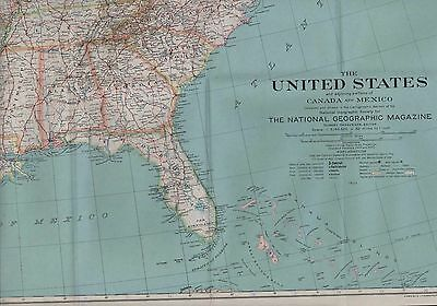 Large NG Map. 1933  United States, Mexico, And Canada  (ZS.47)