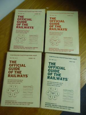 1968 Official Guide of the Railways Lot of 5 Vols July Aug Oct Nov December VG