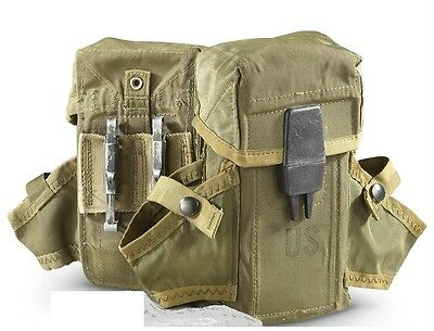 Pair of US Surplus M16 30 Round Magazine Pouch Mag Holster